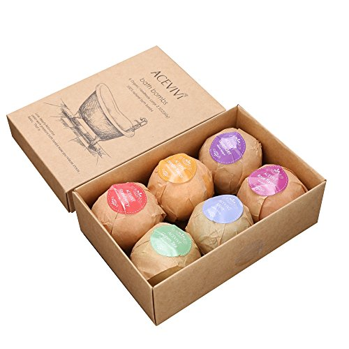 ACEVIVI-6-Bath-Bombs-Gift-Set-Organic-Assorted-Spa-Bath-Bombs-Set-With-All-Natural-Ingredients-Handmade-6-Bomb-Gift-Set-See-Smell-Feel-the-Difference