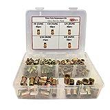 Rivet Nut,150pcs #8-32#10-24 1/4-20 5/16-18 3/8-16 Carbon Steel UNC Rivet Nuts Threaded Insert Nutsert (kit 1)
