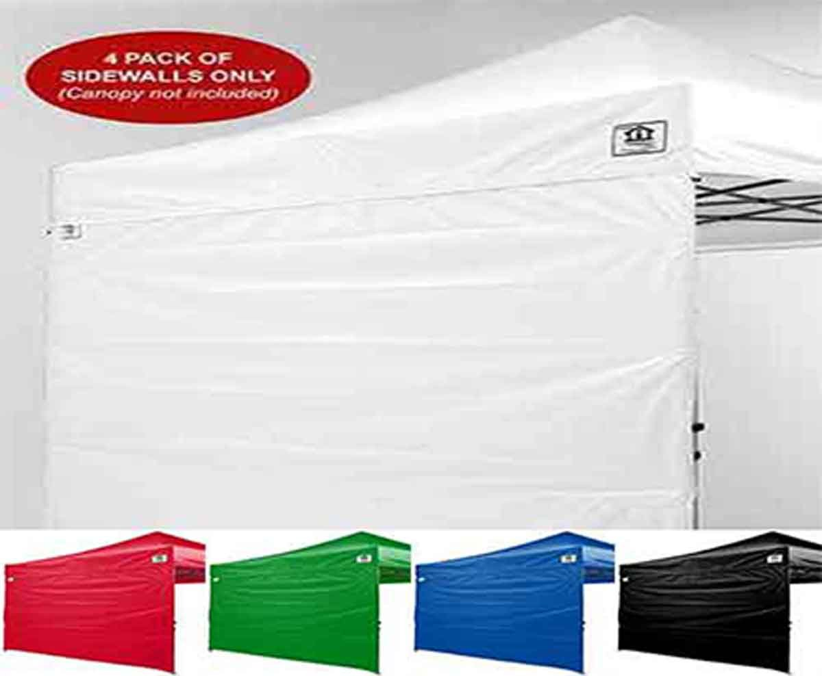 Impact Canopy 10 x 10 Canopy 4 Sidewalls, Outdoor Gazebo Canopy Replacement Walls Only, White