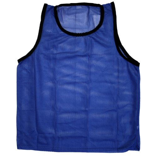 BlueDot Trading Adult Sports Pinnie Scrimmage Vest, Blue (Adult Nylon Mesh Pinnie)