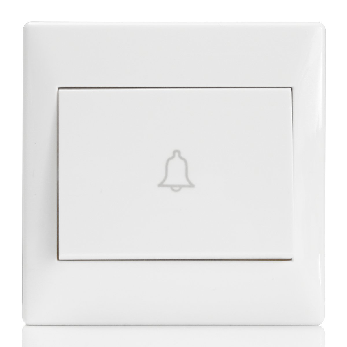 1 x 250V 10A White Door bell Switch Button Push Release Panel