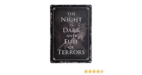 Game of Thrones- Chapa Metalica Night IS Dark (E1048151): Amazon ...