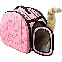 Portable Outdoor Pet Travel Shoulder Bag Folding Breathable Carrier Dog Backpack