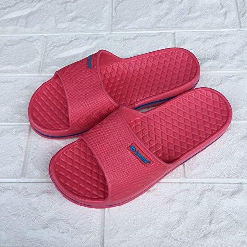 maison d'été 36 de doux couple deux dérapant lumière hommes de et CWJDTXD bains rouge anti femmes épais sandales pantoufles salle coréen pastèque pantoufles Pantoufles paires fond d'été Style Uw4ZP