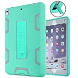 ipad pro 10.5 case, Asstar 3 in 1 Hybrid Shockproof Impact Resistant Armor Kickstand Defender Protection Case for 10.5 inch New Apple ipad pro 2017 Released ipad. (Mint grey)