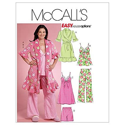 2c840a2d0468 Image Unavailable. Image not available for. Color: McCall's Patterns M5989  Misses' Robe ...