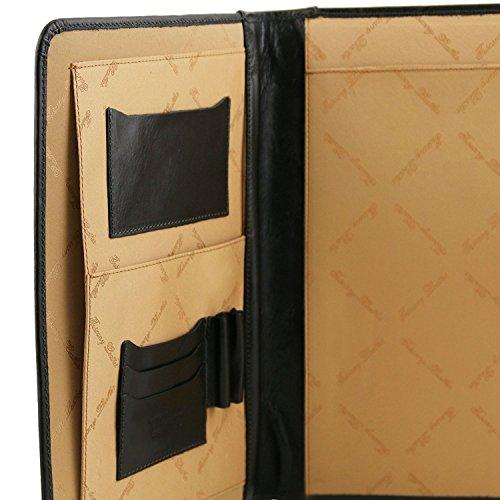 Tuscany Leather - Adriano - Portadocumentos en piel con cierre con botón Rojo - TL141275/4 Miel
