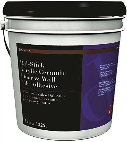 Ceramic Patching Tile (Daltile 555531/2DSEX50 Dal-Stick Acrylic Ceramic Floor and Wall Tile Adhesive, 3.5 gal, English, Plastic, 674.96 fl. oz, 11.5