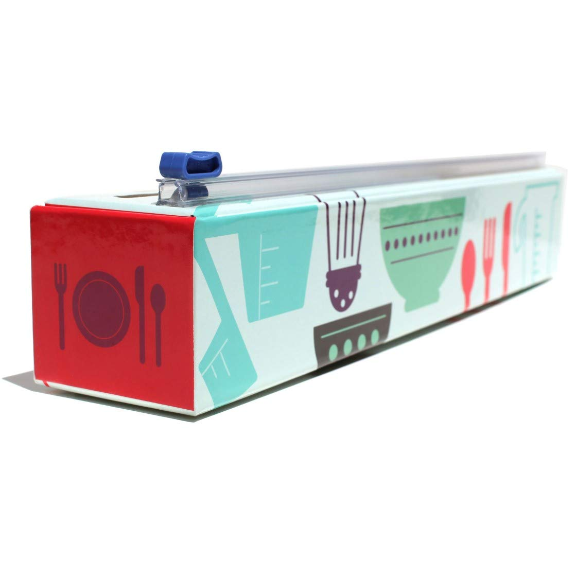Chicwrap Cook's Tools Refillable Plastic Wrap Dispenser/Slide Cutter and 250' of Professional BPA Free Plastic Wrap by ChicWrap