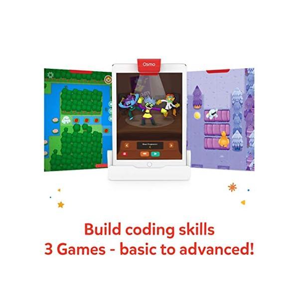 Osmo - Starter kit per iPad 3 giochi di apprendimento pratici - età 5-10+ - Imparare a codificare, codificare le basi e codificare puzzle - Base iPad inclusa, 901-00039 3 spesavip