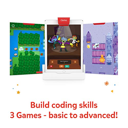 Osmo – Coding Starter Kit for iPad – 3 Educational Learning Games – Ages 5-10+ – Learn to Code, Coding Basics & Coding…