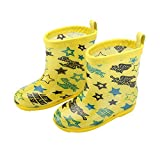Samber Non-slip Rain Shoes Rain Boots Waterproof Boot Galoshes for Babies Kids(Yellow/M)