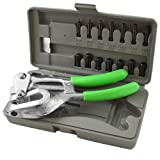 (US) ARKSEN Hand Held, Power Punch Sheet Metal, Hole Kit Compound Leverage, w/ Carrying Case