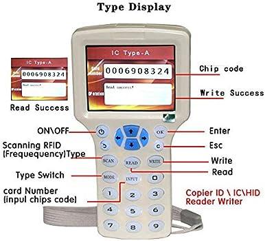 RFID NFC Card Copier Reader Writer Duplicator 10 Frequency Programmer for Z5F2