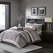 Madison Park Luxury Comforter Set-Traditional Jacquard Design, All Season Down Alternative Bedding, Matching B