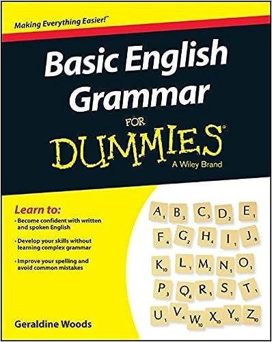 Basic English Grammar For Dummies - US (For Dummies (Language ...