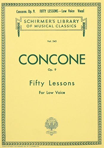 (Fifty Lessons for the Low Voice: Op. 9)