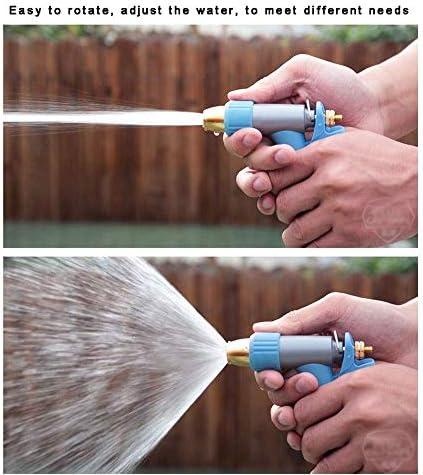 ZTMN Garden PVC Hose High-pressure Car Wash Metal Water Grab Watering Sprinkler Pipe Adjustable Explosion-proof Tube Light Blue (Size : 20M)