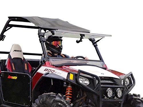 Flip Windshield - SuperATV Heavy Duty Scratch Resistant 3-IN-1 Flip Windshield for Polaris RZR 800/800 S/800 4/XP 900/570/900 4 (See Fitment for Compatible Years) - Has 3 Different Settings!