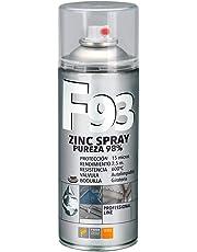 Smalto Spray Zinco 98% 'F93' Professionale. Zincante A Freddo, Anticorrosivo, Antiruggine. Particolarmente Adatto Per Il Ritocco Di Parti Saldate E Ossidate.