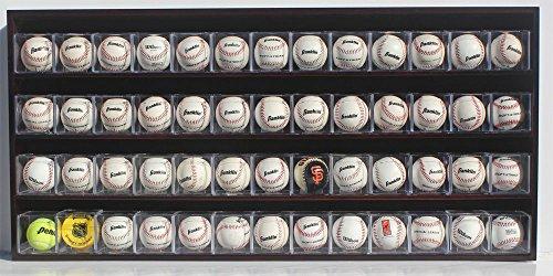 52 Baseball Cubes Display Case Wall Cabinet, B-HW15 (Mahogany - Baseball Case Display Floating