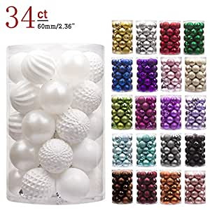 Amazon.com: KI Store 34ct Christmas Ball Ornaments ...