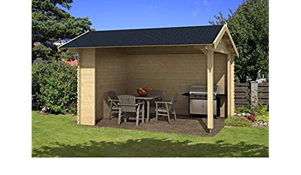 Pabellón P1 – 28 mm listones cenador, superficie: 11,40 m2, techo ...