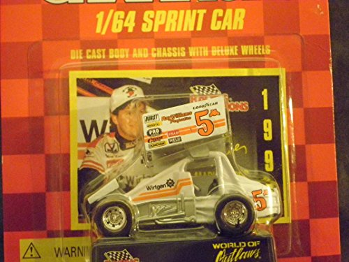 Sprint Car World of Outlaws Mark Kinser 1996 Red Checkered Flag Card 1:64 scale die-cast Racer by Racing - Checkered Diecast Flag