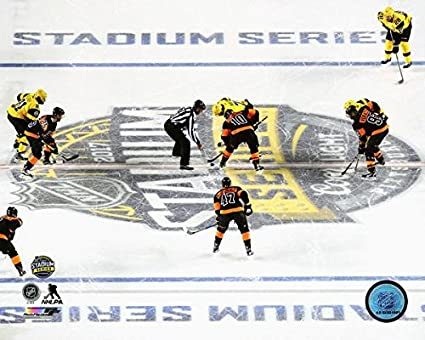 3c0c29ec9 Image Unavailable. Image not available for. Color: Pittsburgh Penguins  Philadelphia Flyers 2017 NHL Stadium Series ...