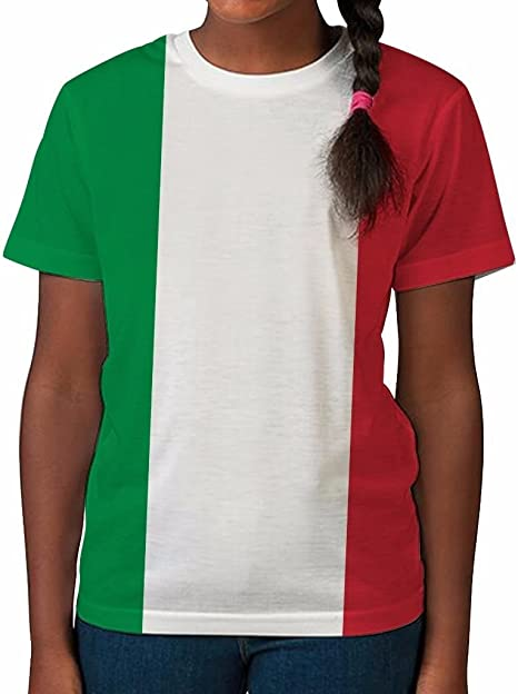 Italy Flag Vintage Style Retro Italian Youth Kids T-Shirt Gift Idea