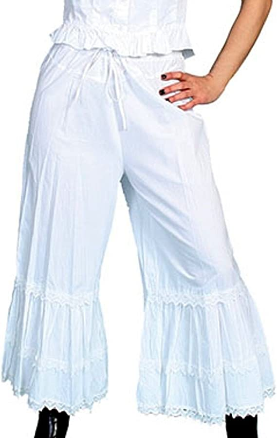 Victorian Lingerie History – Corset, Chemise, Petticoats Bloomers White  AT vintagedancer.com
