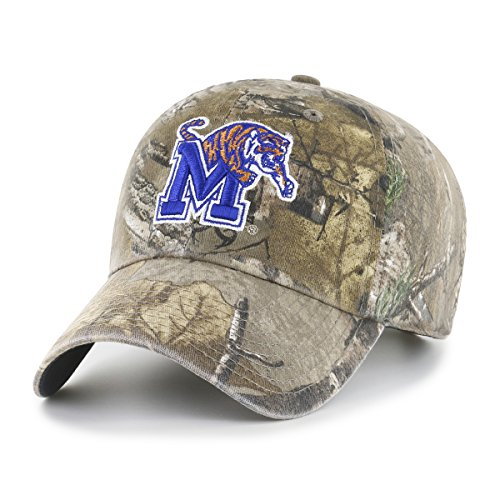 NCAA Memphis Tigers Realtree OTS Challenger Adjustable Hat, Realtree Camo, One Size