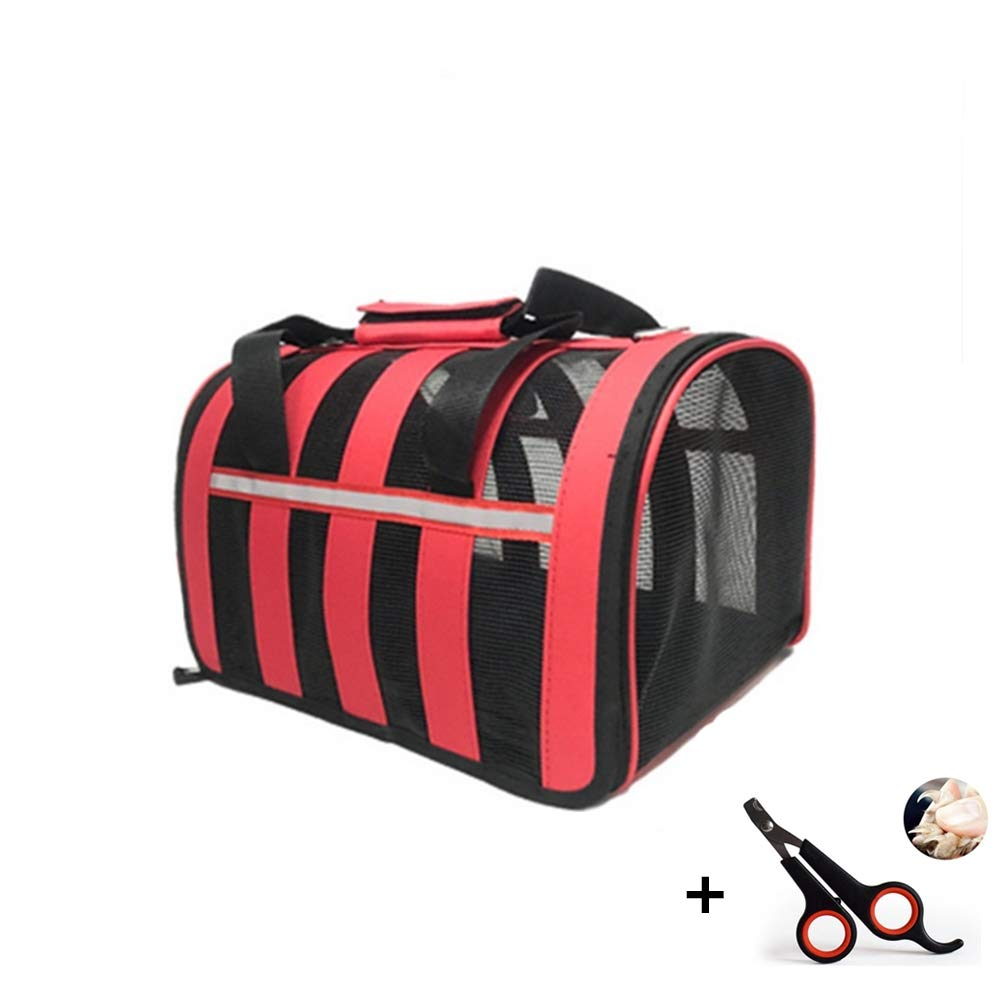 Medium Pet Carrier Bag Soft-Sided Pet Carrier Large Stripe Breathable Multiple Size Durable Light Weight Load Within 8 kg