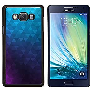 """Be-Star Único Patrón Plástico Duro Fundas Cover Cubre Hard Case Cover Para Samsung Galaxy A7 / SM-A700 ( Polígono púrpura azul del papel pintado abstracto"""" )"""