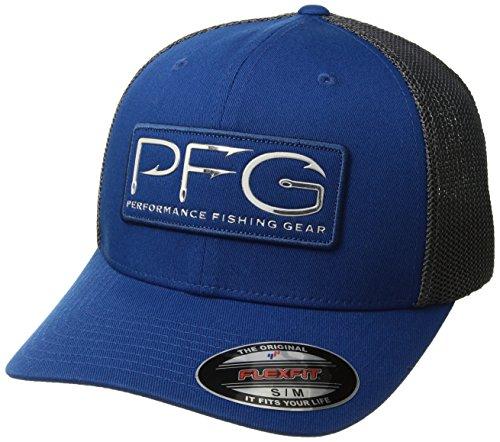 Columbia Unisex Pfg Mesh Ball Cap, Marine Blue, Pfg Hook, Small/Medium - Columbia Mesh Hat