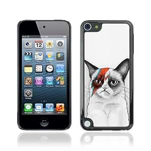 CQ Tech Phone Accessory: Carcasa Trasera Rigida Aluminio Para Apple iPod Touch 5 - Awesome Bowie Grumpy Cat