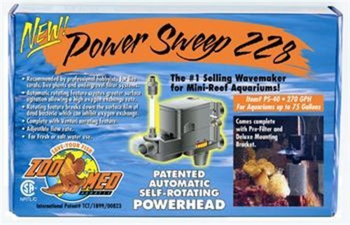 Power Sweep Zoo (Zoo Med Power Sweep 228 Power Head 270gph by Zoo Med)