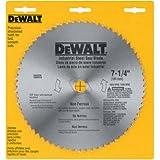"DEWALT 7-1/4"" Circular Saw Blade, Metal Cutting, 5/8-Inch and Diamond Knockout Arbor, 68-Tooth (DW3329),Silver"