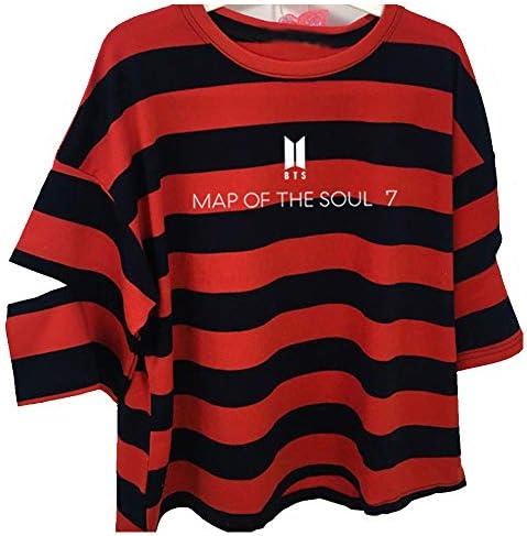 T-Shirt Unisex KPOP Bangtan Boys Rundhals Shirt Kurzarm T-Shirt Suga Jin Jimin Jung Kook J-Hope Rap-Monster V Top für Liebespaar Herren Damska Jugendliche: Odzież