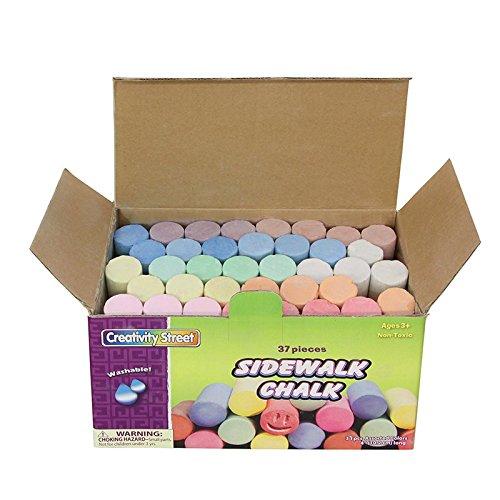 Chenille Kraft CK-1736BN Color Sidewalk Chalk, 37 Piece Box, MultiPk 3 Boxes
