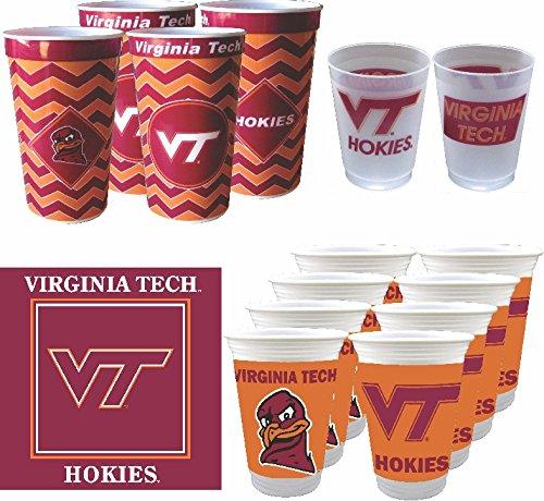 - Westrick Virginia Tech Hokies Cups & Napkins Combo - 64 Pieces (Serves 32)