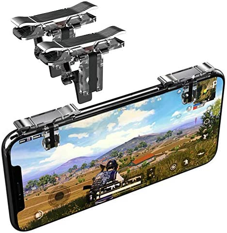 Transparent URUTOREO Sensitive Shoot and Aim Buttons L1R1 for PUBG//Knives Out//Rules of Survival Cell Phone Game Controller for Android iOS Mobile Game Controller, Back Trigger 1 Pair