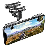 Mobile Game Controller, Norhu Cell Phone Game Triggers - Sensitive Shoot and Aim Buttons Shooter Handgrip- 1Pair(L1R1) (Silver)