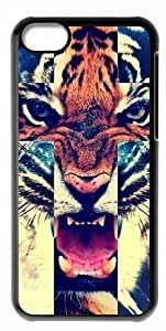Back Case Durable Tiger Roar Cross Hipster Quote Case For iphone 5cC