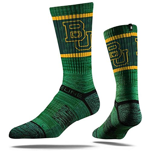 - Strideline NCAA Baylor Bears Premium Athletic Crew Socks, Green, One Size