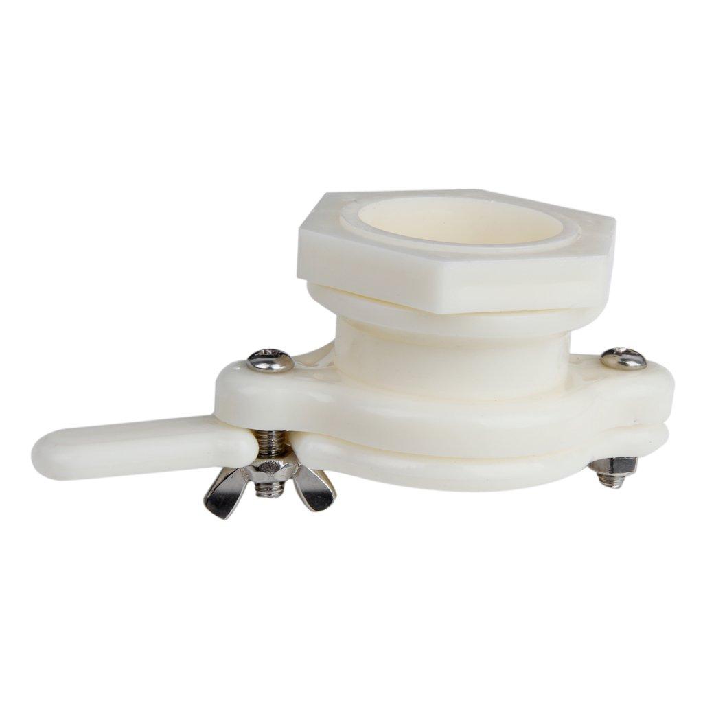 1Pc 38mm Plastic Honey Gate Valve Extracting Bottling Tool White Generic