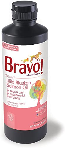 BRAVO 294130 Wild Alaskan Salmon Oil for Pets, 16.5-Ounce
