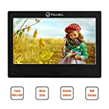 FULLBELL 7 Inch Digital Picture Frame, FU-DPF7BA with 800×480 TFT LCD Screen, Metal Case, 8GB Memory and IR Remoter (Black)