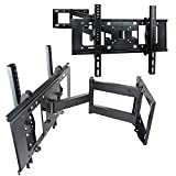 Sunyear Universal Full Motion Swivel 15 degree Tilting Articulating Single Arm TV Wall Mount Bracket for Smasung LG Sharp 32 inch to 60 inch LED LCD Plasma TVs with HDMI Cable