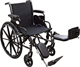 Roscoe Medical W31616E Reliance III Wheelchair with Elevating Legrests, 16''